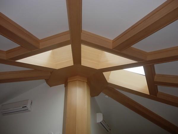 Barker beyer woodworking portland custom cabinets for Box beam ceiling