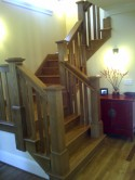 Craftsman Styled Stair in White Oak